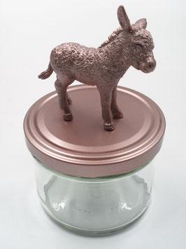 Tierliglas «Eseli» Roségold