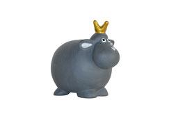 Schaf schwarz mit Krone