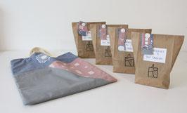 Nähprojekt Nr.1 - Die Tasche/altrosa