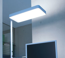 LED Bürostehleuchte Caleo-S1 silber
