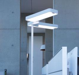 LED Bürostehleuchte Caleo-S4 silber