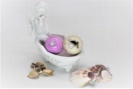 Engelbadewanne Handkuss mit zwei sprudelnde Badekugeln