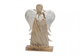 Engel aus Holz mit Stahl Flügel