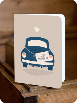 GREETING CARD JUST MARRIED