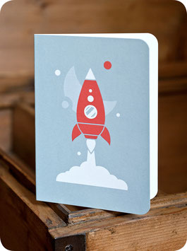 GREETING CARD SPACESHIP
