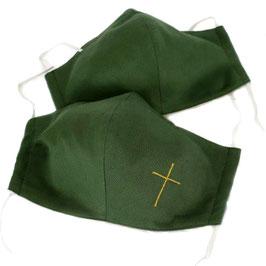 Textile Mund-Nasen-Maske in verschiedenen liturgischen Farben mit oder ohne Kreuz