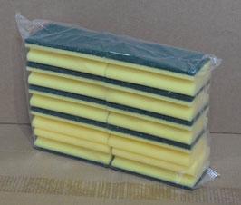 SCHEUERSCHWAMM gelb-grün mit Griffrille