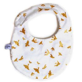 Bavoir bébé colombe blanc