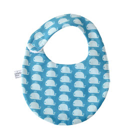 Bavoir bébé étoiles baleines