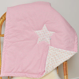 Plaid bébé étoile spotlight pink