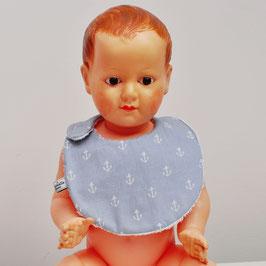 Bavoir bébé ancres gris