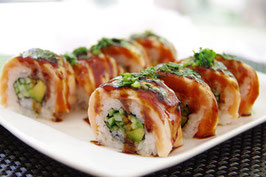 76.Teriyaki Lachs Roll