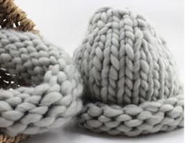 Combideal: (col)sjaal met muts (kleur)