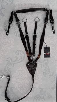 Hochwertige Leder Vorderzeuge (ohne Swarovski oder Schmuckfassungen) *fallen groß aus* LEDER dunkelbraun