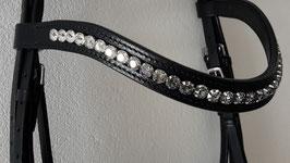 Stirnriemen - leichtgeschwungen - individuelle Anfertigung mit Swarovski-Kristallen