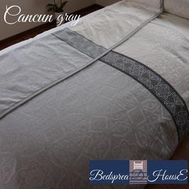 ベッドスプレッド カンクン グレー Cancun サイズ:シングル:180×270㎝ セミダブル:200×270㎝ ダブル:230×270cm クイーン:250×270cm