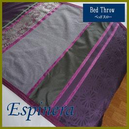 ベッドスロー エスピネラ Espinera purple サイズ:シングル横180×縦80cm ダブル横230×縦80cm  クイーン横250×縦80cmベッドスプレッドハウス BedspreaD HousE