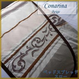 ベッドスロー コナリナ Conarina Beige サイズ:シングル横180×縦80cm ダブル横230×縦80cm  ベッドスプレッドハウス BedspreaD HousE