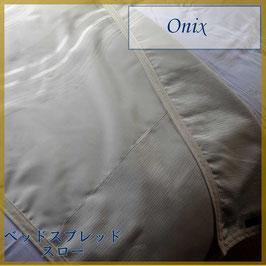 ベッドスロー オニックス Onix Pearl サイズ:シングル横180×縦80cm ダブル横230×縦80cm  ベッドスプレッドハウス BedspreaD HousE