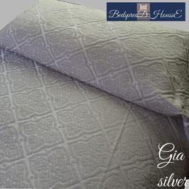 ベッドスプレッド ギア シルバー GIA Silver サイズ:シングル:180×270㎝ セミダブル:200×270㎝ ダブル:230×270cm クイーン:250×270cm