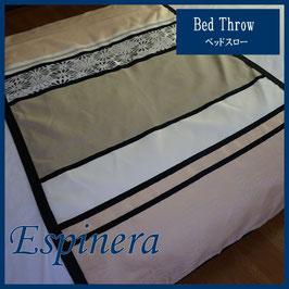 ベッドスロー エスピネラ Espinera Beige サイズ:シングル横180×縦80cm ダブル横230×縦80cm  クイーン横250×縦80cmベッドスプレッドハウス BedspreaD HousE