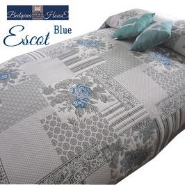 ベッドスプレッド エスコット Escot ブルー サイズ:シングル180×270cm ベッドスプレッドハウス BedspreaD HousE