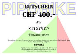 Gutschein Fahrtechnik Kurs CHF 400