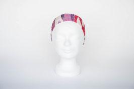 Haarband einfach, rosa-weiß geblümt