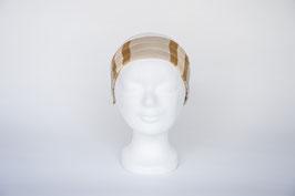 Haarband einfach, beige-braun gemustert