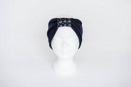 Stirnband dunkelblau/königsblau