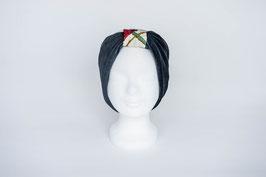 Stirnband grau/weiß/rot/grün