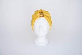 Turban gold mit goldgelber Schlaufe
