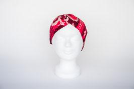 Haarband doppelt, Pink Flower