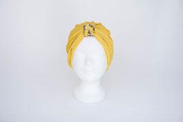 Turban gold mit goldbrauner Schlaufe