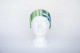 Haarband einfach, grün geblümt