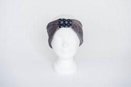 Stirnband grau/blau