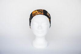 Haarband einfach, schwarz gold