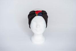 Stirnband schwarz/gold/rot