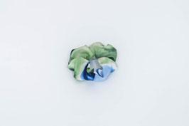Zopfgummi blau, weiß, grün