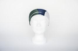 Haarband einfach, grün-blau-weiß