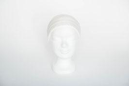 Haarband einfach, weiße Seide