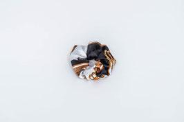 Zopfgummi schwarz, weiß