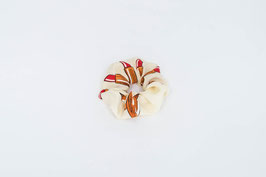 Zopfgummi beige, rot