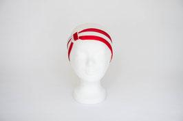 Haarband einfach, rot, weiß