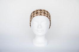 Haarband einfach, braun gemustert