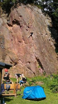 Biken & Klettern - Variante 1:  Der Kletterfels Kapplerstein