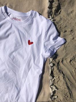 T shirt red amore heart