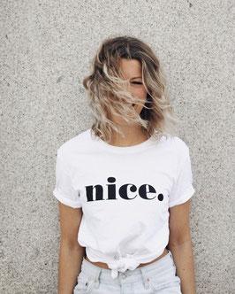 t-shirt nice. white