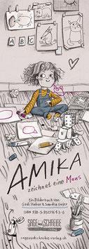 """Plakat """"Amika zeichnet eine Maus"""""""