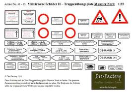 """Militärische Schilder II - Übungsplatz """"Munster Nord"""" in 1:35"""